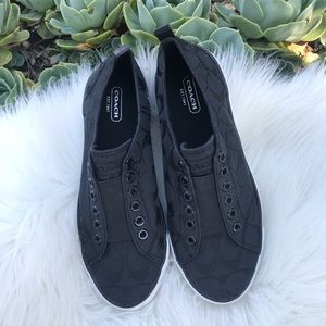Coach Shoes - Coach black slip on sneakers